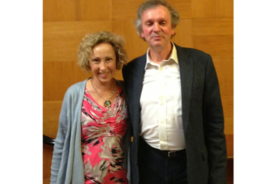 The famous researcher and author Rupert Sheldrake with Wendy Leppard.